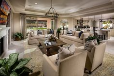 Olive Hill Plan 4C Great Room #PardeeHomes