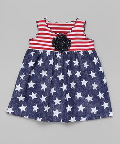 Love this Red & Blue Star Swing Top - Toddler & Girls by SILLY MILLY on #zulily! #zulilyfinds