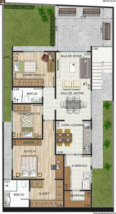 Ideas for tiny closet layout floor plans Modern House Plans, Small House Plans, House Floor Plans, Home Design Plans, Plan Design, Apartment Plans, House Blueprints, Sims House, Bedroom House Plans
