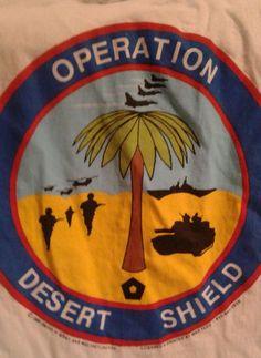 Operation Desert Shield Desert Storm Gulf War   Vtg T Shirt Sz X Large Operation Desert Shield, Deserts, War, Advertising, T Shirt, Shop Ideas, Link, Things To Sell, Fashion