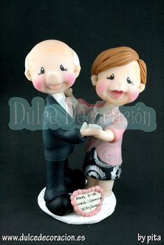 boda de oro by Dulce decoración (modelado - tartas decoradas), via Flickr