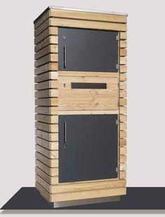 Paketbriefkasten aus Lärchenholz