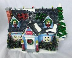 Department 56 Snow Village The Holiday House Lights Noel Santa 55048 Mint in Box   eBay $109.95