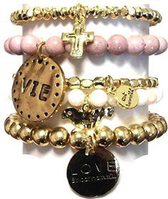 CAT HAMMILL ( キャットハミル ) オーストラリア の ゴージャス ラヴ ブレスレットセット Brazillia bracelet set gold multi gold multi love ブレスレット ポーチ ゲット 海外 ブランド CAT HAMMILL http://www.amazon.co.jp/dp/B010N0HU7C/ref=cm_sw_r_pi_dp_dkGKvb16E7VK3