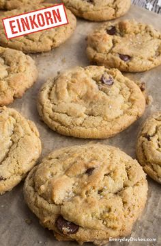 Einkorn chocolate chip brown butter cookies recipe