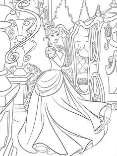80 Best Coloring Pages Lineart Disney Cinderella Images In 2020