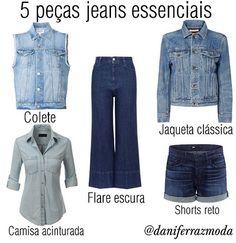 WEBSTA @ daniferrazmoda - Jeans Lovers ✔5 clássicos da moda que cabem em qualquer tipo físico e estilo. Porque jeans é assim, democrático como ele só...tem como não amar -- e deixar faltar no guarda-roupa essas peças coringas, hein?