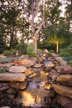 Waterfall heaven, a waterfall in some lucky homeowners garden