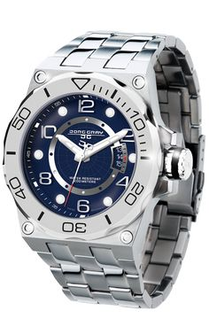Jorg Gray JG9600-14 Men's Watch Blue Dial Swiss Movement With Silver Stainless Steel. 100% Authentic. Free Shipping.