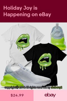 size 40 afaf8 d48cd NEW CUSTOM T SHIRT matching Nike Air Max 270 White-VOLT AM270 1-4-8