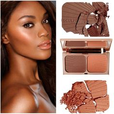 Filmstar Bronze and Glow 'Face Sculpt & Highlight' is now available in a Medium to Dark shade! This shade is perfect for medium to dark skin tones, or deep tans, to contour features and mimic a sun-kissed complexion. Available exclusively on charlottetilbury.com!