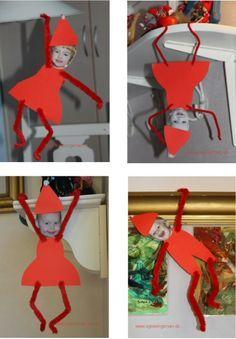 lutin avec photo kravlenisser fra min blog http://agnesingersen.dk/blog/kravlenisser - Christmas,Weihnachten, kids craft,Kinderbastelideen