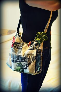 diy bag with a flower, very easy to make