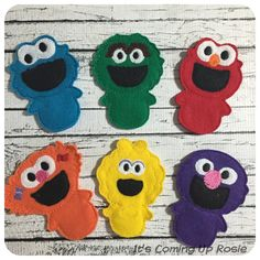 Sesame Street Felt Finger Puppets  Individual by ItsComingUpRosie