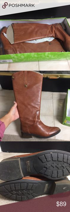 Sam Edelman Whiskey 2 tall boots Worn a few times, excellent condition! Kept in the box with shapers. Extended calf allows your jeans or tall/thick socks to fit comfortably inside! Whiskey color. Buttery soft leather. Size 9. True to size. Sam Edelman Shoes Over the Knee Boots