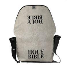 Holy Bible Christian Religion Faux Ivory Leather Messenger Bag http://www.branddot.com/14/holy_bible_christian_religion_faux_ivory_leather_messenger_bag-210361040415004462