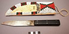 Sioux scalping knife and sheath.