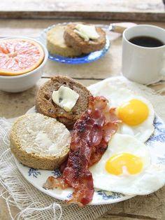 microwave paleo english muffins