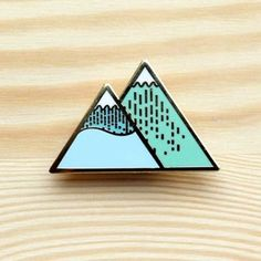 Image of Arctic Series – Winter Mountain Brooch *NEW*