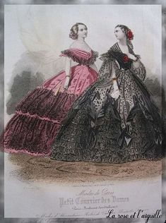 1860. French fashion. Absolutely beautiful.