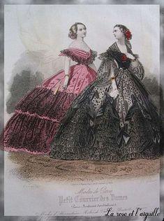 1860. French fashion. Absolutely beautiful.