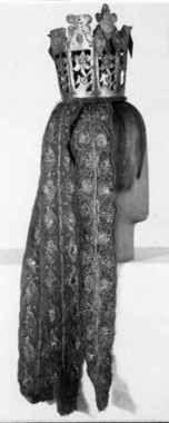 Digitalt Museum - Brudekrone med nakkebånd Bridal Crown, Crowns, Folk Art, Museum, Culture, History, Fashion, Moda, Historia