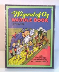 NEW The Wizard of OZ WADDLE BOOK by L frank Baum sealed in Fabric box collectors