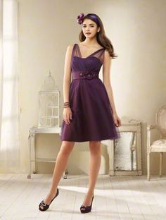 Style 8606 from the Alfred Angelo Modern Vintage Collection, shown in Deep Plum