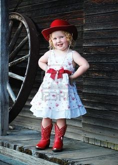 I want these boots. Give me these boots, cute little blond child. Anddddd maybe the hat.