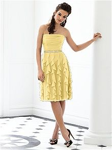 We could wear colored shoes :) Champagne Bridesmaid Dresses Champagne After Six Bridesmaid Style 6649 - Champagne Bridesmaid Dresses - Bridesmaids Photos Yellow Bridesmaid Dresses, Champagne Bridesmaid Dresses, Wedding Dresses, Always A Bridesmaid, Contemporary Dresses, Palomino, Party Fashion, Mother Of The Bride, Romantic Weddings