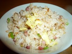Pancetta Fried rice-served