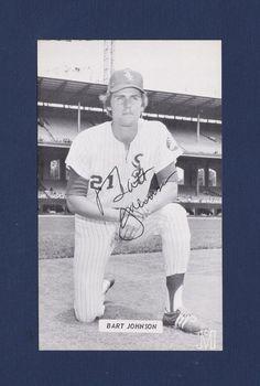 Bart Johnson signed Chicago White Sox vintage J.D. McCarthy baseball postcard