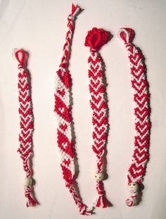 My Bulgarian martenica :) Baba Marta, Bulgarian, Friendship Bracelets, Smile, Holidays, How To Make, Diy, Holidays Events, Bulgarian Language