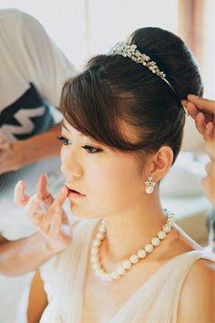 Wedding Hairstyles With Tiara Ideas : Wedding Day Hairstyles With Tiara And Veil