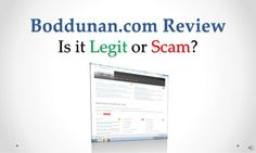 boddunan-com-review-legit-or-scam by Sandeep Iyengar via Slideshare