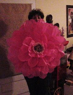Couldn't help myself...had to try making a giant flower! DIY link on blog..