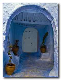(Chefchaouen, Morocco) been there awesome blue town!