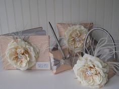 Wedding Guest Book and Pen Set  Custom Made