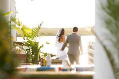 Jekyll Island Club Hotel Wedding | photos on riverside dock at Latitude 31 and Rah Bar