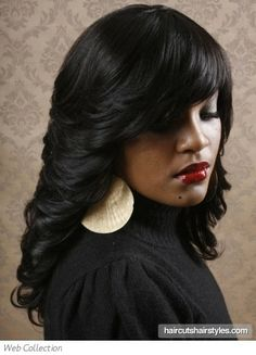 | long flipped out black hair style black hairstyles gallery