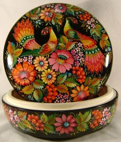 This is hand made of finest quality and ecological clean wood by traditional masters of Petrykivka, Ukraine. Famous Petrykivka painting is a visiting card of Ukraine. Modern Petrykivsky ornament can be described as plant, mainly floral.