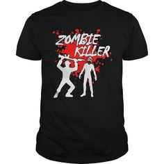 Zombie Killer twd. Funny Zombie Quotes, Sayings T-Shirts, Hoodies, Tees, Clothing, Gifts. #sunfrog