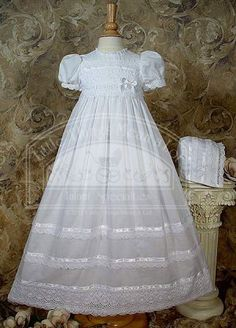 Victorian Christening gown with lace