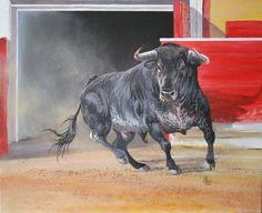 Toro saliendo
