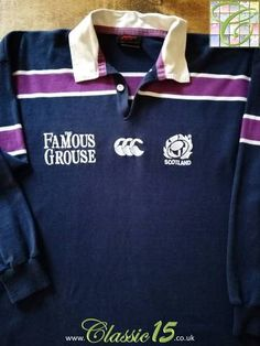 758fe016752 Official Canterbury Scotland home rugby shirt from the 2000/2001 season. Long  Sleeve Rugby