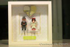 Cosines de Picuni: Cuadro muñecos Playmobil novios