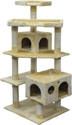 Go Pet Club F2020 Cat Tree Condo Scratcher Post Pet Bed Furniture