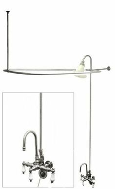 1000 Images About Clawfoot Tub Shower Kit On Pinterest Clawfoot Tub Shower