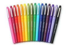 I love these pens for all sorts of applications. Do note* They do bleed through the pages of my planner and Bible. Paper Mate Flair Felt Tip Pen - Medium Point - 16 Color Set - SANFORD 70644 Projekt Mc2, Stabilo Boss, Jet Pens, Pens And Pencils, Back To School Supplies, Art Supplies, Office Supplies, Markers, Girly