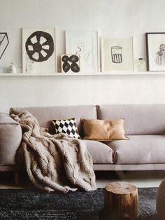 Picture shelf.
